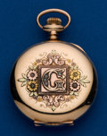Timepieces:Pocket (post 1900), Hampden, 6 Size, Gold Filled, Multi-Color, Hunters Case. ...