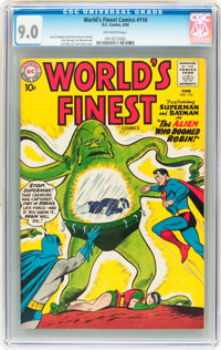 World's Finest Comics #110 (DC, 1960) CGC VF/NM 9.0 Off-white pages