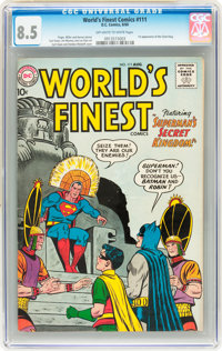 World's Finest Comics #111 (DC, 1960) CGC VF+ 8.5 Off-white to white pages