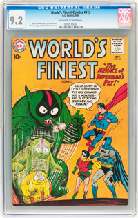World's Finest Comics #112 (DC, 1960) CGC NM- 9.2 Off-white to white pages