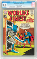 Silver Age (1956-1969):Superhero, World's Finest Comics #121 (DC, 1961) CGC NM- 9.2 Off-white to white pages....