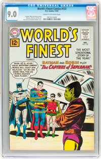 World's Finest Comics #122 (DC, 1961) CGC VF/NM 9.0 Cream to off-white pages