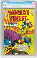 Silver Age (1956-1969):Superhero, World's Finest Comics #123 (DC, 1962) CGC NM 9.4 Off-white pages....