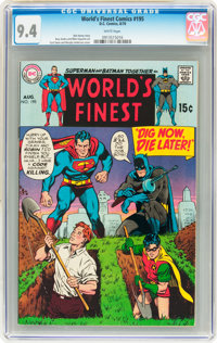 World's Finest Comics #195 (DC, 1970) CGC NM 9.4 White pages