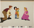 Animation Art:Production Cel, All Dogs Go To Heaven Animation Production Cel Set-UpOriginal Art (Don Bluth Productions, 1989)....