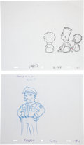 animation art:Production Drawing, The Simpsons Animation Drawing Original Art Group (Fox,2003-04).... (Total: 20 Items)