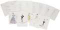 Movie/TV Memorabilia:Original Art, Lucille Ball Assorted Costume Sketches.... (Total: 17 Items)