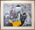 Movie/TV Memorabilia:Original Art, Chess Game (1967) by Franco Minei (Italian, born 1922)....