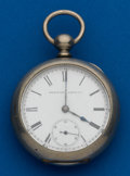 Timepieces:Pocket (post 1900), Elgin, 18 Size, Silverode, Key Wind, 15 Jewels. ...