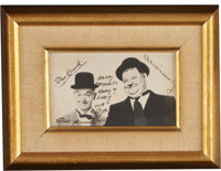 Laurel and Hardy Framed Picture, Signed by Laurel to Lucille Ball and Gary Morton