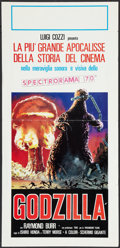 "Movie Posters:Science Fiction, Godzilla (Paramount, R-1970s). Italian Locandina (13"" X 27.5"").Science Fiction.. ..."