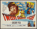 "Movie Posters:War, Twelve O'Clock High (20th Century Fox, 1949). Half Sheet (22"" X28""). War.. ..."