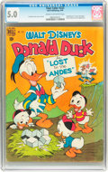 Golden Age (1938-1955):Cartoon Character, Four Color #223 Donald Duck (Dell, 1949) CGC VG/FN 5.0 Cream tooff-white pages....
