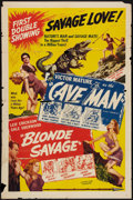 """Movie Posters:Fantasy, One Million B.C. (Favorite Films, R-1946). One Sheet (27"""" X 41"""")Reissued as """"Cave Man."""" Fantasy.. ..."""