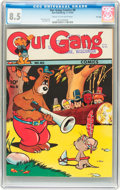 Golden Age (1938-1955):Funny Animal, Our Gang Comics #8 File Copy (Dell, 1943) CGC VF+ 8.5 Cream tooff-white pages....