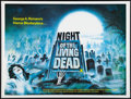 """Movie Posters:Horror, Night of the Living Dead (Target International, R-1980s). British Quad (30"""" X 40""""). Horror.. ..."""
