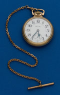 Timepieces:Pocket (post 1900), Hamilton, 23 Jewels, 950 With Chain, 16 Size. ...