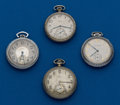 Timepieces:Pocket (post 1900), Four American, 12 Size Pocket Watches. ... (Total: 4 Items)