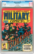 Golden Age (1938-1955):War, Military Comics #17 (Quality, 1943) CGC FN/VF 7.0 White pages....