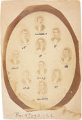 Baseball Collectibles:Photos, 1870 Rockford Forest City's Team Cabinet Photograph with AlbertSpalding....