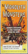 "Movie Posters:Science Fiction, The Monolith Monsters (Universal International, 1957). Three Sheet(41"" X 81""). Science Fiction.. ..."
