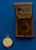 Timepieces:Pocket (post 1900), Gruen, 14k, Verithin With Box & Papers, 17 Jewel. ...