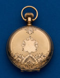 Timepieces:Pocket (post 1900), American, 14k, 6 Size, Hunter Case With No Movement. ...