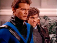 V TV Series - Marc Singer's Screen-Worn Dueling Tunic and   Lot