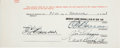 Autographs:Others, 1941 Joe DiMaggio Signed Uniform Player's Contract....