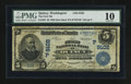 National Bank Notes:Washington, Quincy, WA - $5 1902 Date Back Fr. 592 The First NB Ch. # (P)9102. ...
