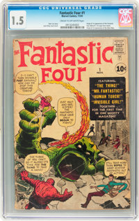 Fantastic Four #1 (Marvel, 1961) CGC FR/GD 1.5 Cream to off-white pages