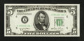 Small Size:Federal Reserve Notes, Fr. 1961-E* $5 1950 Wide Federal Reserve Star Note. Crisp Uncirculated.. ...