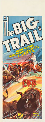 "The Big Trail (Fox, 1930). Australian Daybill (15"" X 40"")"
