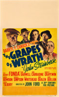 "Movie Posters:Drama, The Grapes of Wrath (20th Century Fox, 1940). Window Card (14"" X22"").. ..."