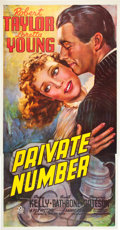 "Movie Posters:Drama, Private Number (20th Century Fox, 1936). Three Sheet (41"" X 81"")....."