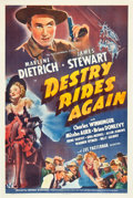 "Movie Posters:Western, Destry Rides Again (Universal, 1939). One Sheet (27"" X 41"").. ..."
