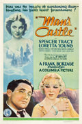 "Movie Posters:Drama, Man's Castle (Columbia, 1933). One Sheet (27"" X 41"").. ..."