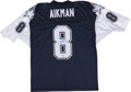 Football Collectibles:Uniforms, Troy Aikman Signed Jersey....