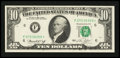 Error Notes:Ink Smears, Fr. 2022-F* $10 1974 Federal Reserve Note. About Uncirculated.. ...