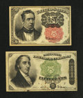 Fractional Currency:Fifth Issue, Fr. 1265 10¢ Fifth Issue Very Fine-Extremely Fine.. Fr. 1379 50¢Fourth Issue Very Fine.. ... (Total: 2 notes)