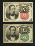 Fractional Currency:Fifth Issue, Fr. 1264 10¢ Fifth Issue Very Fine-Extremely Fine.. Fr. 1265 10¢Fifth Issue About Uncirculated.. ... (Total: 2 notes)