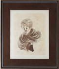 Movie/TV Memorabilia:Autographs and Signed Items, Signed Hirschfeld Print of Lucille Ball from Her Estate....