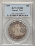 Early Half Dollars, 1807 50C Draped Bust VG10 PCGS. O-101, R.5. PCGS Population(40/935). NGC Census: (23/738). Mintage: 301,076. Numismedia Ws...