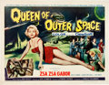 "Movie Posters:Science Fiction, Queen of Outer Space (Allied Artists, 1958). Half Sheet (22"" X28"").. ..."