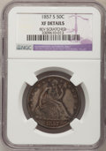 Seated Half Dollars: , 1857-S 50C --Rev Scratched--NGC Details. XF. NGC Census: (0/25).PCGS Population (11/27). Mintage: 158,000. Numismedia Wsl. ...