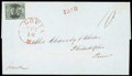 Stamps, (11X2) St. Louis, Mo., 1845, 10¢ black on greenish...