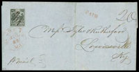(11X6) St. Louis, Mo., 1846, 20¢ black on gray lilac