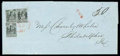 Stamps, (11X6, 11X5) St. Louis, Mo., 1846, 20¢ black on gray lilac...