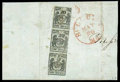 Stamps, (11X6, 11X4) St. Louis, Mo., 1846, 20¢ black on gray lilac, 5¢ black on gray lilac...