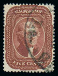 Stamps, (28A) 1858, 5¢ Indian red, type I...